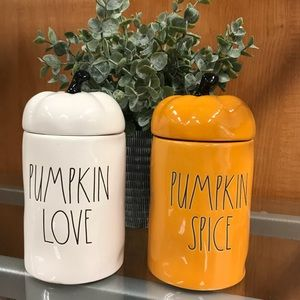 Rae Dunn PUMPKIN LOVE and PUMPKIN SPICE candle